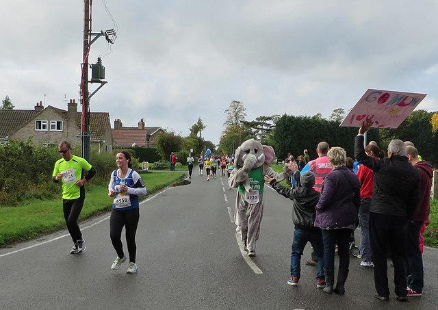 Elephant runs in First Yorkshire Marathon