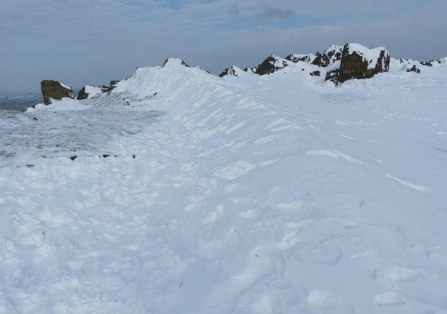 Snow drift on the summit of Beacon Hill