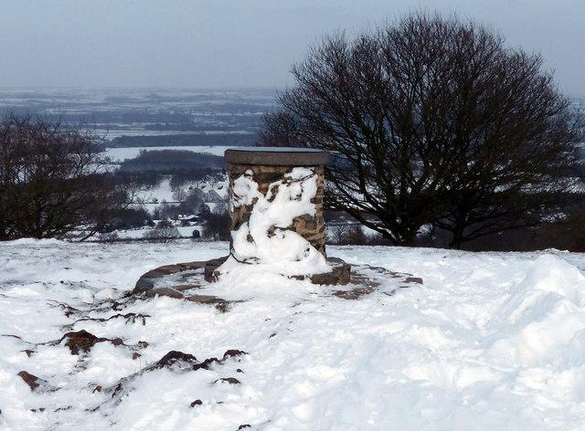 Toposcope in the snow