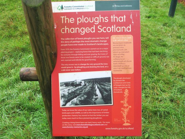 Information board about the plough collection