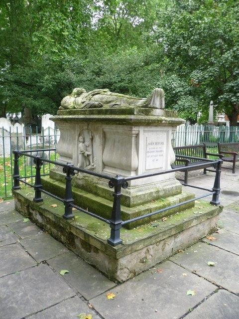 John Bunyan's grave, Bunhill Fields