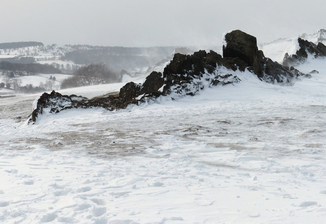 Icy crags on the summit of Beacon Hill