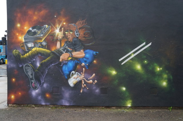 Street art on Hedon Road, Hull