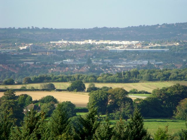 Towards Dudley from Clent Hills