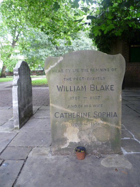 William and Catherine Blake memorial stone