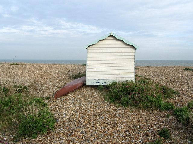 Isolated Beach Hut, Kingsdown