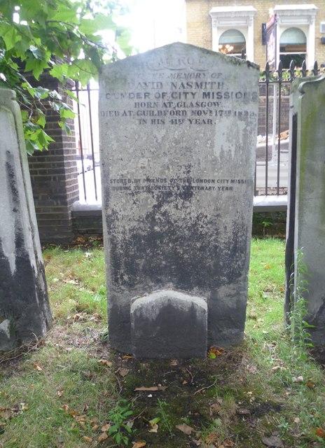 Grave of David Nasmith, Bunhill Fields