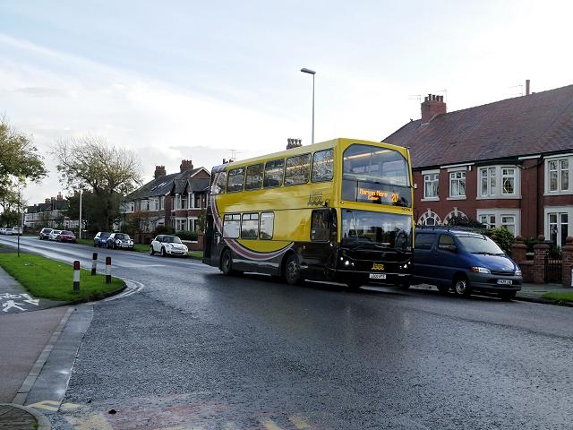 Bus on West Park Drive
