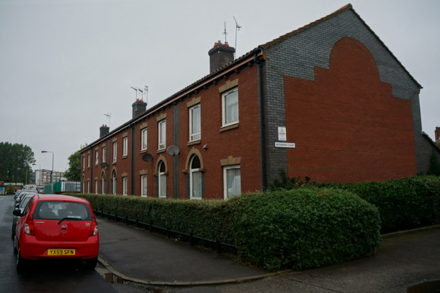 Houses on Jefferson Court off Franklin Street, Hull