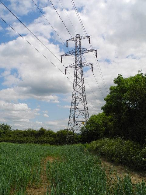 Pylon north of Shire Carr Farm