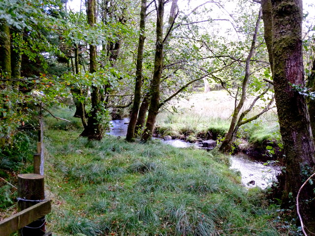 The Balloch burn near Mark Bridge