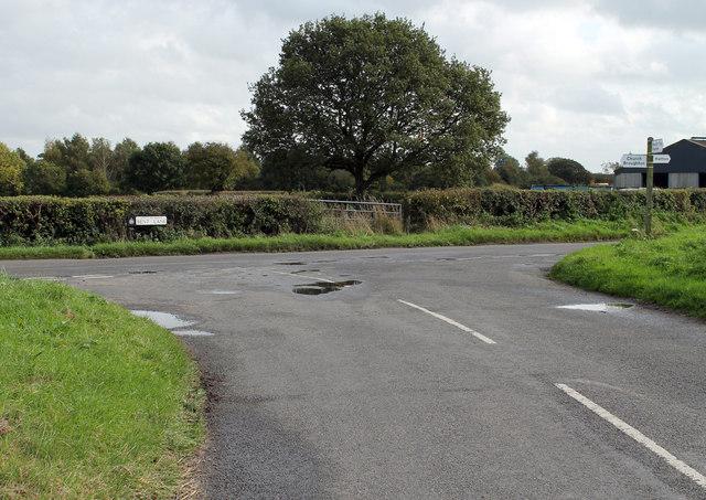 Junction on Bent Lane