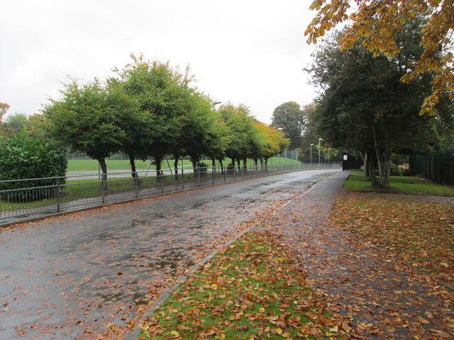 Driveway to Kerr Mackie Primary School - Gledhow Lane
