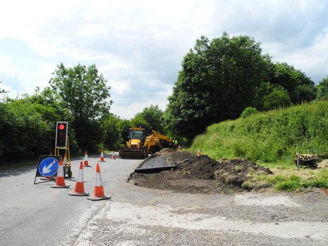Road Works on Kirkby Lane B6019