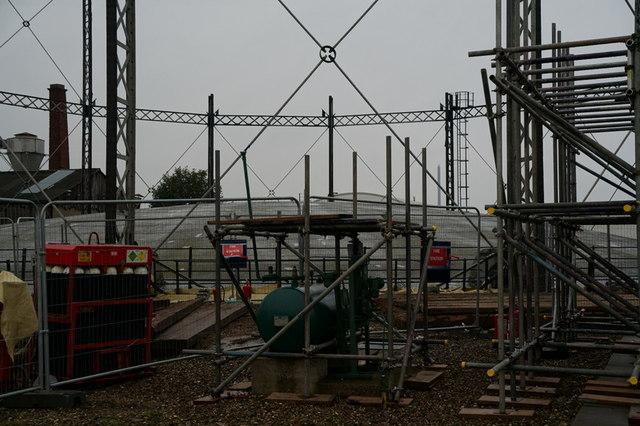 Dismantling the Mark Street Gas Holder, Hull