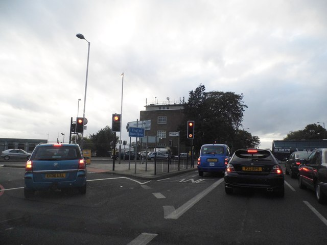 Bath Road at the junction of Hatton Road North
