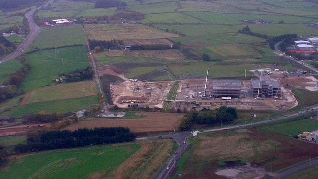 Building site at Aberdeen Airport from the air