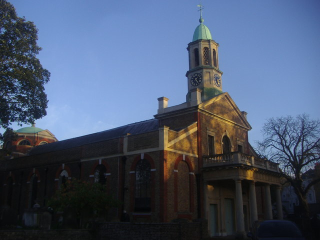 The entrance to St Ann's Church on Kew Green