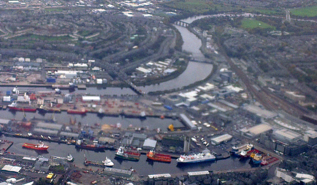 Port of Aberdeen from the air