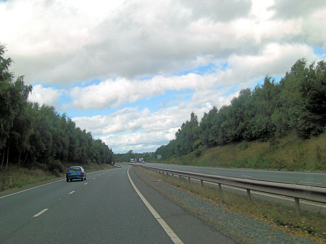 A5 east of Upper Woodcote Farm
