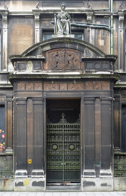 Detail of former police courts, Bridewell Street, Bristol