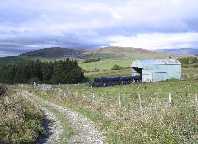 View across Bagbie Farm near Carsluith