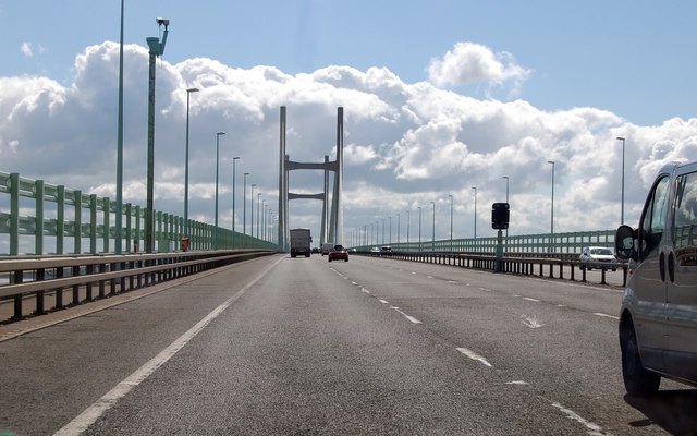 M4 Eastbound Crossing The Severn Bridge 169 Julian P Guffogg Geograph Britain And Ireland