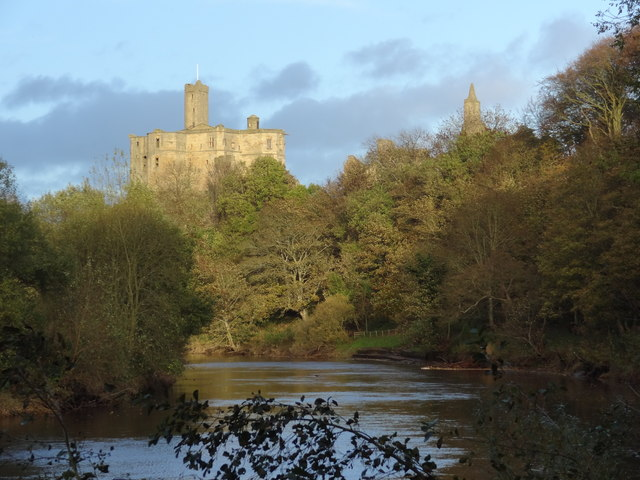 Warkworth Castle and the River Coquet