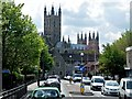 TR1558 : Canterbury Cathedral seen from Military Road by David Dixon