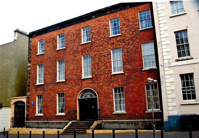 Derry - Bishop Street Within - Red Brick... © Joseph ... Brick Apartment Building