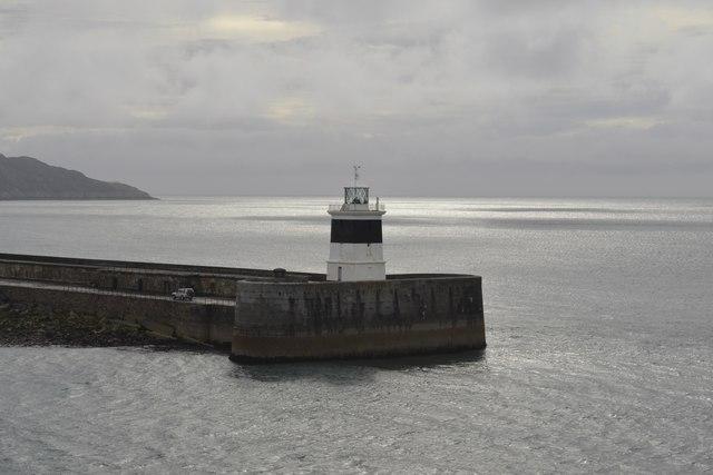 Breakwater Lighthouse, viewed from P&O's Adonia sailing into Holyhead - 1