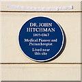 Photo of John Hitchman blue plaque