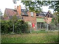 SP1392 : Burnt-out former farm buildings, Pype Hayes Park by Robin Stott