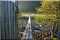 NH2953 : Footbridge over the River Meig by jeff collins