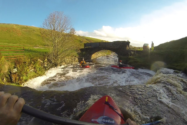 Ledge drop on Stonesdale Beck