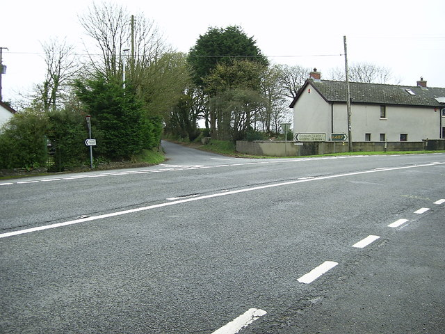 Road junction near Eglwyswrw