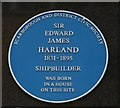 Photo of Edward Harland blue plaque