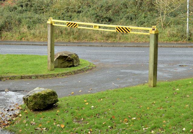 Car park barrier, Redburn, Holywood