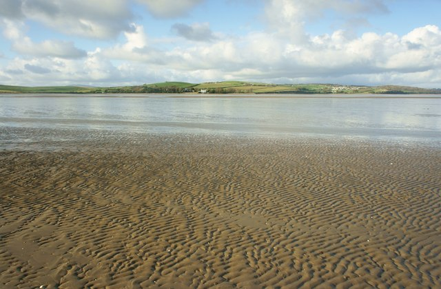 Sand flat in the intertidal zone