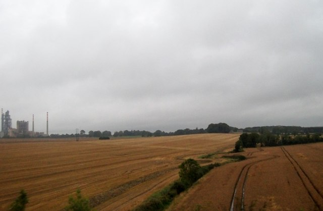 Farmland north of the Platin Cement Works