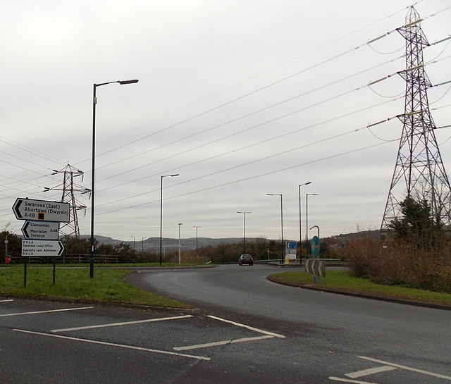 Power Lines Over M4 Motorway Junction Jaggery