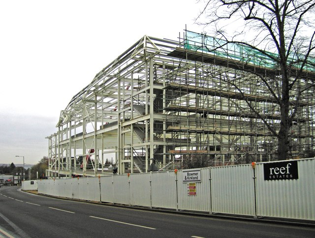 Construction of the new Marks & Spencer store