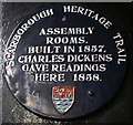 Photo of Assembly Rooms, Scarborough and Charles Dickens blue plaque
