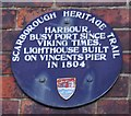Photo of Harbour, Scarborough blue plaque
