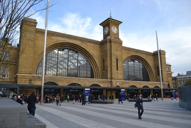 King's Cross station front revealed