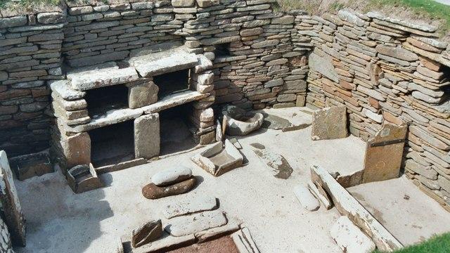 Stone Furniture At Skara Brae © David Hawgood :: Geograph