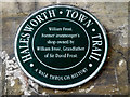 Photo of William Frost green plaque