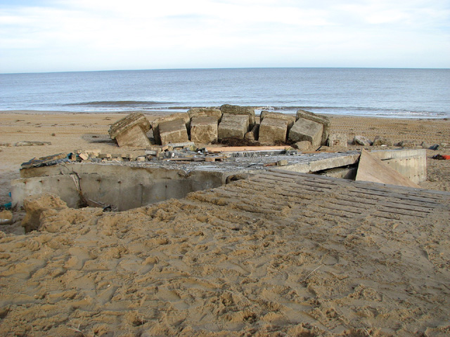 Platform of the old lifeboat shed at Hemsby