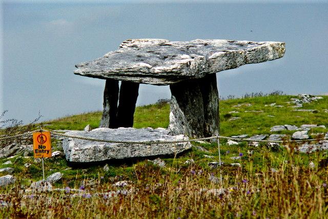 Burren - Poulnabrone Dolmen - View to Northeast