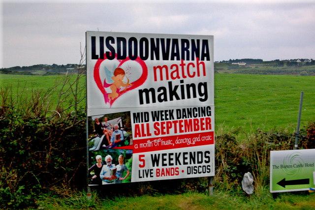 Burren - Lisdoonvarna - Matchmaking Sign & Burren Castle Hotel Directional Sign